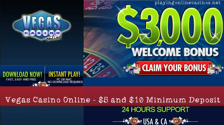 minimum deposit casino bonus