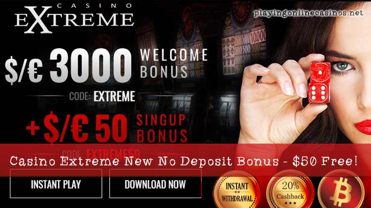 $50/€50 free chip for play on slots