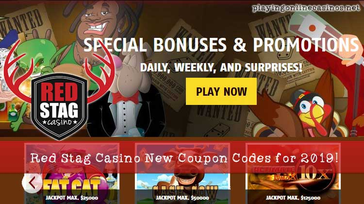 Red Stag Casino New Coupon Codes 2019 - Bonuses & Free Spins
